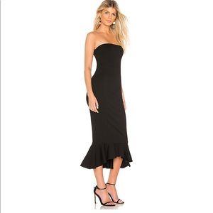 Super down Izzy ruffle maxi dress size small